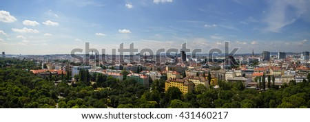 Panorama of Vienna - View from Prater