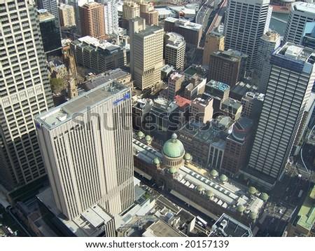 panorama photo of sydney - stock photo