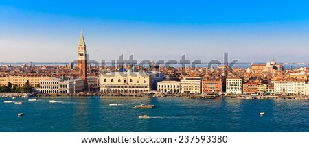 Panorama Piazza San Marco in Venice, view from the top - stock photo