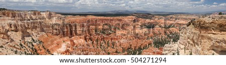 Panorama picture in Bryce Canyon National Park