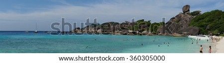 Panorama Picture of Similan Island - stock photo