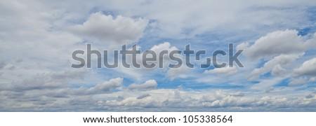 Panorama sky and cloud - stock photo