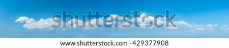 panorama sky background - stock photo