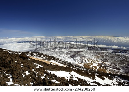 Panorama Teide Mountain - stock photo