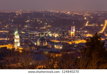 Panorama view of Lviv