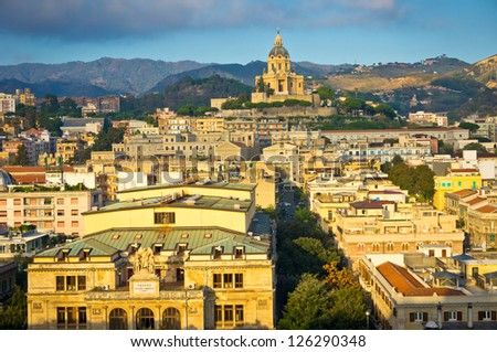 Panorama view of Messina, Sicily, Italy - stock photo