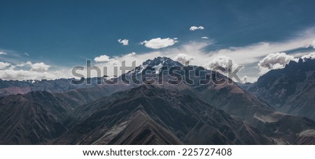 Panorama view of the Andes, South America - stock photo