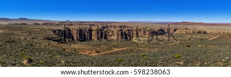 Panorama view of the Little Colorado Canyon, Arizona