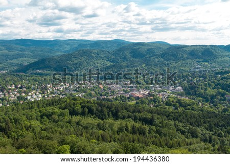 Panorama view to Baden-Baden, Germany - stock photo