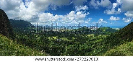 Panoramic Hawaiian Landscape