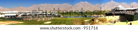 Panoramic Image FBR Open, Gold Phoenix (exclusive at shutterstock) - stock photo