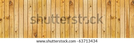 panoramic image of the beige wooden fence