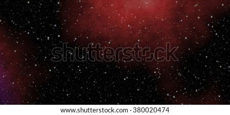 Panoramic looking into deep space. Dark night sky full of stars. The nebula in outer space  - stock photo