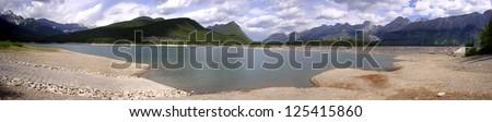 Panoramic - Lower Lakes - stock photo