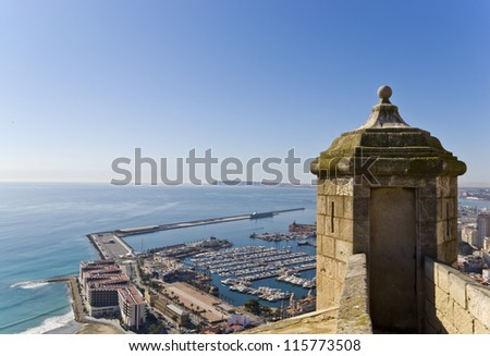 Panoramic of Alicante - stock photo