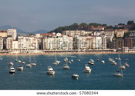 Panoramic of San Sebastian, Gipuzkoa, Spain - stock photo