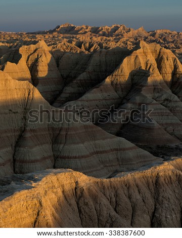 Panoramic Point in Badlands National Park near Interior, South Dakota