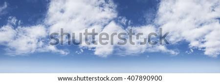 panoramic sky - stock photo