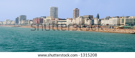 Panoramic veiw of Brighton beach