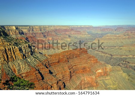 Panoramic View for the Grand Canyon from Pima Point - stock photo