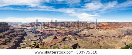 Panoramic view from the great canyon of the Colorado - stock photo
