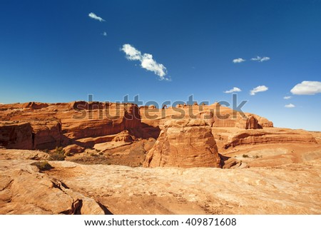 panoramic view in Arches national Park, Utah - stock photo