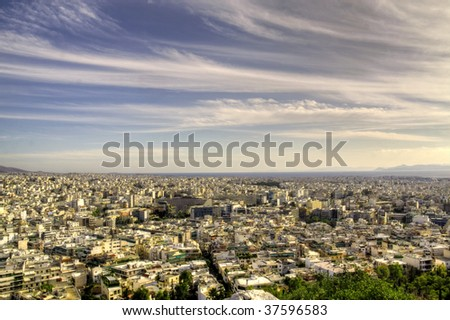 Panoramic view of Athens