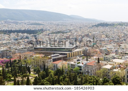 Panoramic view of Athens from Acropolis, Greece