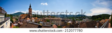 Panoramic view of Baden-Baden, Germany - stock photo