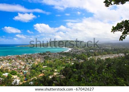 Panoramic view of Baracoa in the Guantanamo province, Cuba - stock photo