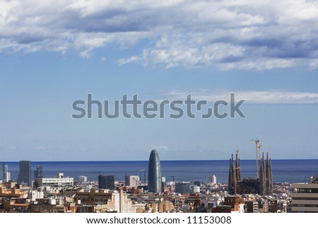 Panoramic view of barcelona3