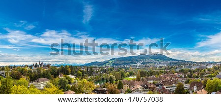 Panoramic view of Bern in a summer day in Switzerland