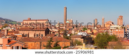 Panoramic view of Bologna. Emilia-Romagna, Italy - stock photo