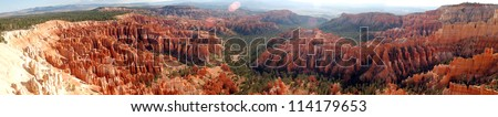 Panoramic View of Bryce Canyon Amphitheater, Bryce Canyon National Park, Utah, USA