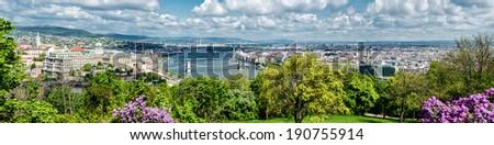 Panoramic view of Budapest city. Hungary   - stock photo