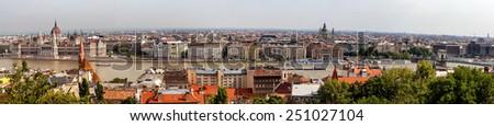 Panoramic view of Budapest, Hungary - stock photo