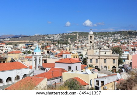 Panoramic view of Chania. Crete, Greece.