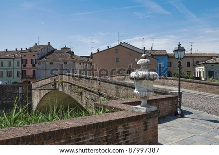 Panoramic view of Colorno. Emilia-Romagna. Italy. - stock photo