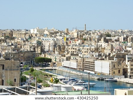 Panoramic view of Cospicua or Bormla also known by its titles Citta  Cospicua is a double-fortified harbour city in the South Eastern Region of Malta also it is one of the Three Cities, Birgu, Malta