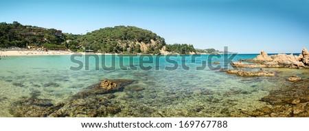 Panoramic View of Costa Brava - stock photo