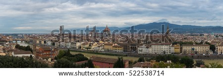 Panoramic View of Florance landscape