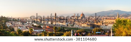 Panoramic view of Florence, Tuscany, Italy - stock photo