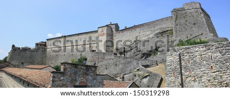 Panoramic View of Gavi Fort (Alessandria Italy)