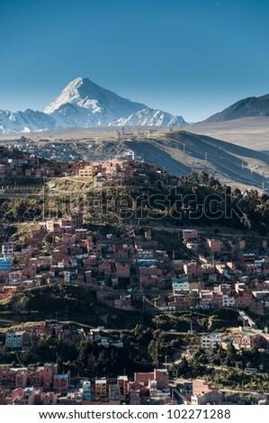Panoramic View of La Paz, Bolivia - stock photo