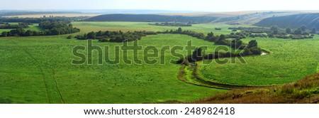 Panoramic view of landscape in Tatarstan republic, Russia  - stock photo