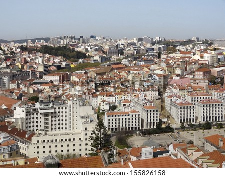Panoramic view of Lisbon, the capital city of Portugal