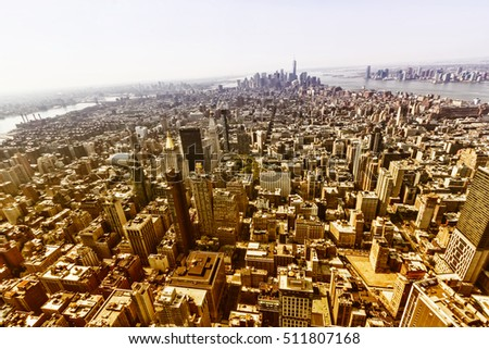 Panoramic view of Manhattan.