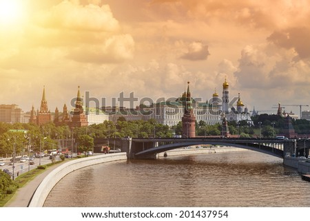 Panoramic view of Moscow Kremlin, Russia