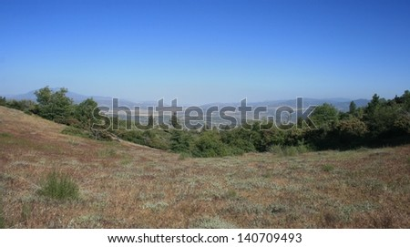 Panoramic view of mountains and desert, California