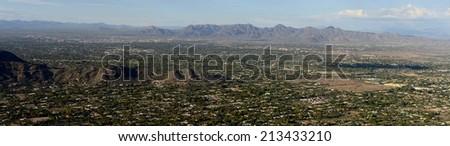 Panoramic view of North Scottsdale, AZ - stock photo